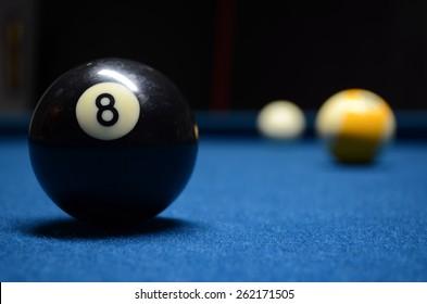 8 ball Close up shot