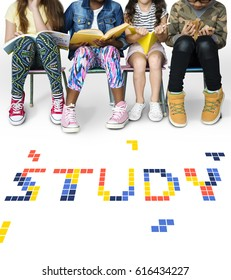 8 bit words illustration of eduction knowledge