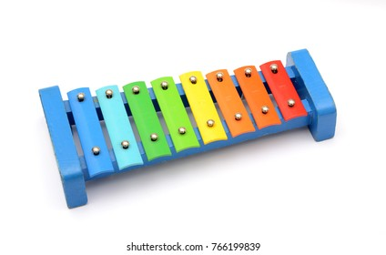 8 Colors tone toy xylophone made of metal and wood
