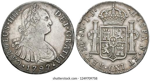 8 escudos Spanish Coin, numismatic