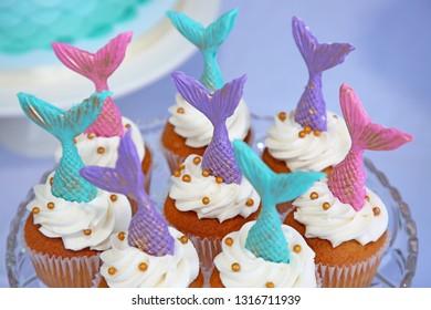 8 Mermaid Cupcake Varied
