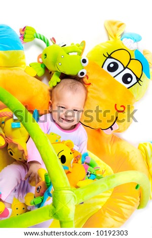 8 Months Old Baby Girl Enjoy Stock Photo Edit Now 10192303