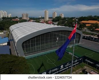 8 November 2018, Johor Bahru Johor, Malaysia, aerial view of JDT Training Centre for JDT player with Johor Flag