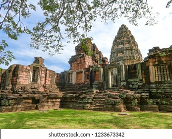 8 NOVEMBER 2018, NAKHON RATCHASIMA PROVINCE, THAILAND: Phimai historical park, ancient castle (Prasat Hin Pimai) in Nakhon ratchasima, Thailand