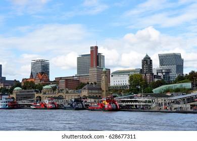 8 October 2016, Hamburg, Germany - Beautiful view of Hamburg habour