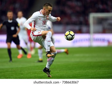 8 OCTOBER, 2017 - WARSAW, POLAND: Football World Cup Rusia 2018 qualification match Poland - Montenegroo/p Piotr Zielinski (Poland)