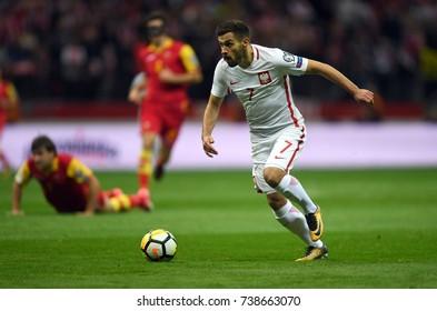 8 OCTOBER, 2017 - WARSAW, POLAND: Football World Cup Rusia 2018 qualification match Poland - Montenegroo/p Maciej Makuszewski (Poland)