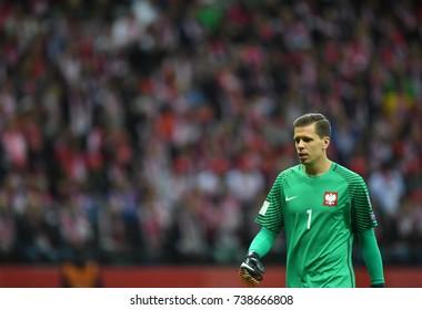 8 OCTOBER, 2017 - WARSAW, POLAND: Football World Cup Rusia 2018 qualification match Poland - Montenegroo/p Wojciech Szczesny (Poland)