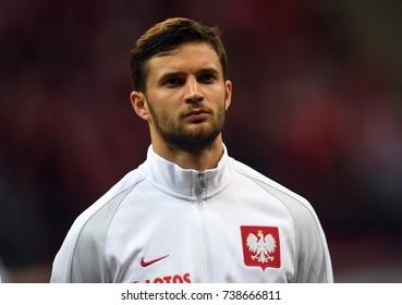 8 OCTOBER, 2017 - WARSAW, POLAND: Football World Cup Rusia 2018 qualification match Poland - Montenegroo/p Bartosz Bereszynski (Poland)