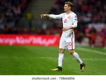 8 OCTOBER, 2017 - WARSAW, POLAND: Football World Cup Rusia 2018 qualification match Poland - Montenegroo/p Lukasz Piszczek (Poland)