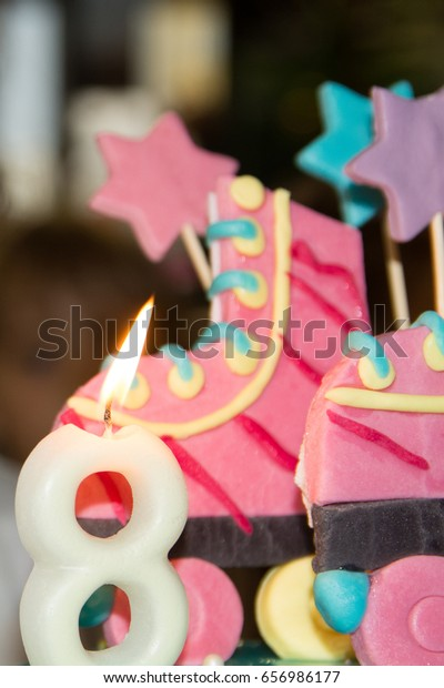 Swell 8 Years Old Girl Birthday Cake Stock Photo Edit Now 656986177 Funny Birthday Cards Online Bapapcheapnameinfo