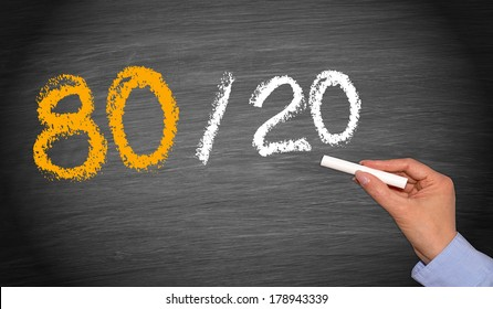 80 / 20 Rule - Marketing and Economy Concept