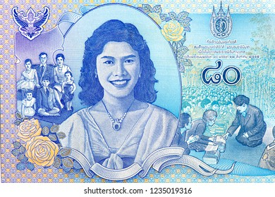 80 baht Banknote Thai Money,Baht Thai banknotes. Baht Thai is the national currency of Thailand, Close Up UNC Uncirculated - Collection.