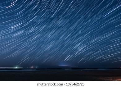 Of 80 minutes,star of the trajectory (Sendai Arahama Coast)