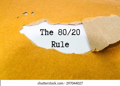 The 80/20 rule  on brown envelope