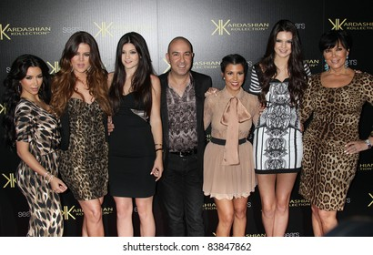8-17-11 - Hollywood, CA - Khloe Kardashian, Kylie Jenner, Kris Jenner, Kourtney Kardashian, Kim Kardashian, Kendall Jenner. Kardashian Kollection Launch Party at The Colony. By: Russ Elliot/AdMedia