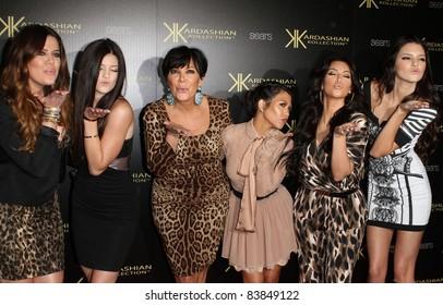 8-17-11, Hollywood, CA - Kim, Khloe, Kris, & Kourtney Kardashian, with Kylie & Kendall Jenner. Kardashian Kollection Launch Party at The Colony. By: Kevan Brooks/AdMedia