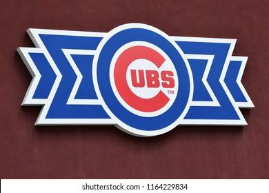 8/25/18 Mesa Arizona Sign for the Chicago Cubs Baseball team