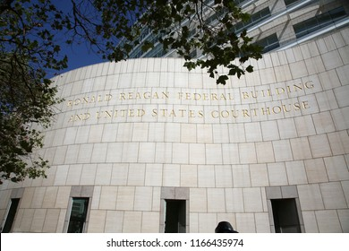 8-27-2018 Santa Ana CA: Ronald Regan Federal Building. United States Court House in Santa Ana California.