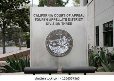 8-27-2018 Santa Ana, California: California Court of Appeal Forth Appellate District Division Three, building in Santa Ana California.