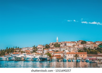 8.28.2018. Vrsar harbour on the Adriatic sea in Istria, Croatia
