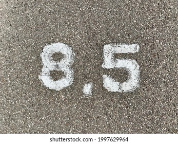 8.5 Mile Road Marker on Bike Path