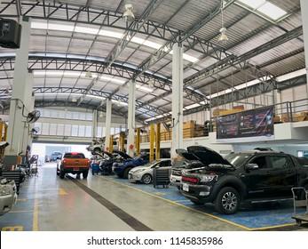 8/7/2018: Chiangmai Thailand. Ford Service Center in Chiangmai Thailand.