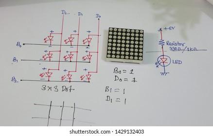 8*8 Dot matrix display for matrix display