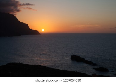 88/5000 Sunset in a hamlet, called Almaciga, located in Taganana, S / C Tenerife