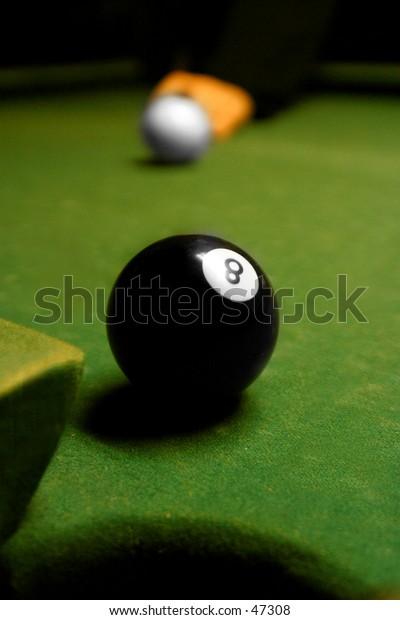 8-Ball on pool Table