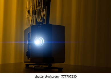 8mm film projector, projection
