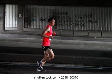 8-November-2021 Istanbul-Turkey: NKolay İstanbul Maratonu 2020