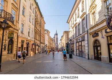 8th August, 2020 - Florianska Street in Krakow (Poland)
