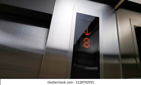 8th floor, The elevator is down to the 8th floor