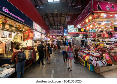 8th March 2018, Bugis Street, Singapore; busy shopping streets with crowd. Crazy shopping. Biggest market in Singapore