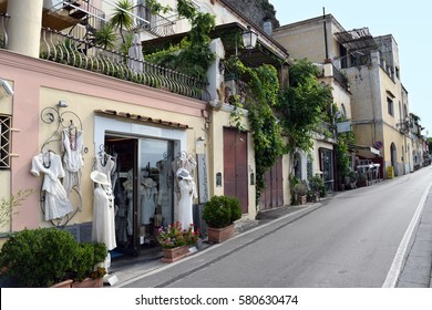 8th September 2016 - Positano, Italy  - A boutique in a hilly street in this popular town.