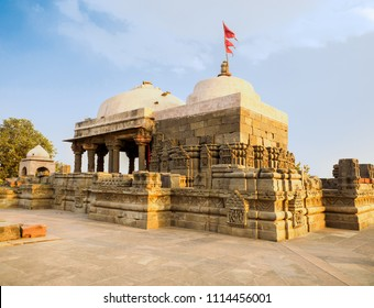 The 8th-9th century  Harshshat Mata temple, Abhaneri village, Rajasthan State, India.