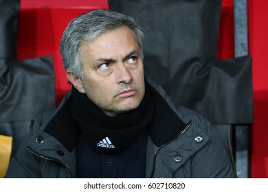 9 April 2013. Istanbul, Turkey. Jose Mourinho  is a Portuguese professional football manager and former football player. He is the manager of Premier League club Manchester United.