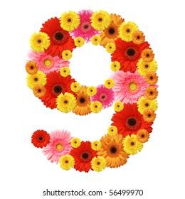 9, arabic numeral
