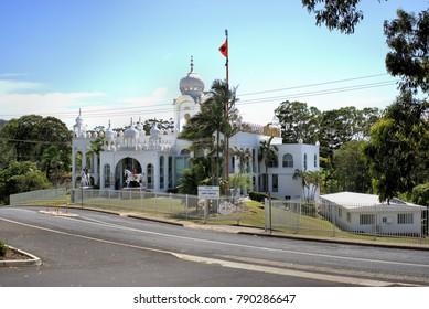 9 Jan 2018 Sikh Gurudwara or Sikh Temple in Woolgoolga Australia. Day time image of Indian temple in Australia.