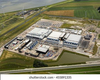 9 July 2016, Eemshaven, Netherlands. The new datacenter of Google which is being built near Delfzijl in the province of Groningen.