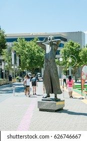 9 November 2015, statue in front of The State Library of Northbridge, Perth, Western Australia.