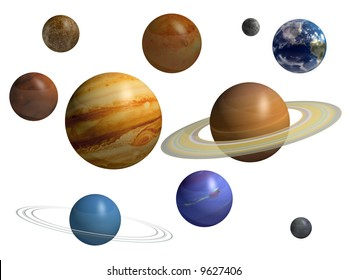 9 Planets Isolated