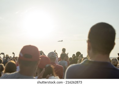 9 September 2014 Liberation day of izmir, Alsancak Izmir Turkey Gundogdu Square. Izmir. 9 september 2014 Turkish stars demonstration flight.