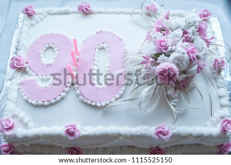 90th Birthday Cake Stock Photo Edit Now 1115525150