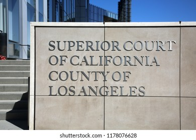 9-10-2018 Long Beach, CA: Long Beach Superior Court Building and Sign.