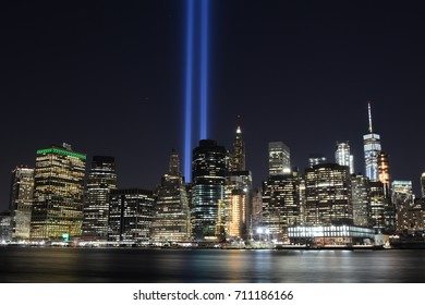 9/11 Memorial Lights, September 2017