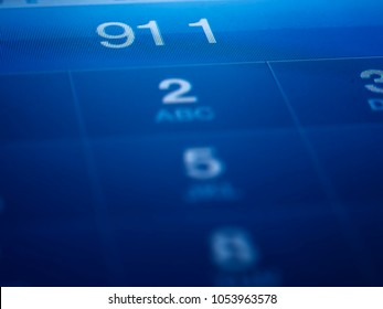 911 on the mobile phone,shallow DOF, for emergency and urgency themes