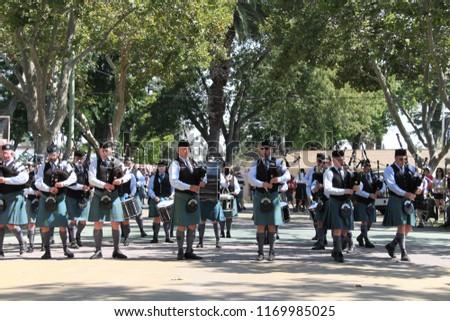 912018 Pleasanton California Scottish Bagpipe Marching Stock
