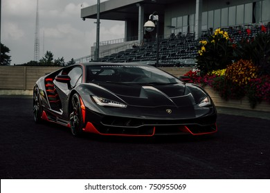 9/17/17 - Alpine, New Jersey - The very Rare and prestigious Lamborghini Centenario. This is 1 of 4 bare carbon fiber examples in the United States. Front quarter